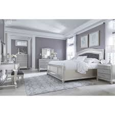 Orlando Bedroom Furniture Ashley Furniture Coralayne Panel Bedroom Set In Silver Best