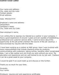 cashier sample cover letters example of cashier resume