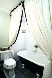 short shower curtain liner clawfoot tub solution