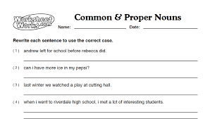 Proper Noun Worksheets 1St Grade Worksheets for all | Download and ...