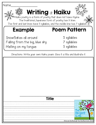 What's The Pattern Of A Haiku Magnificent Writing A Haiku Poem TONS Of Great Activities For 48nd Grade In The