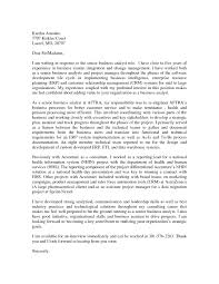 Business Analyst Cover Letter Sample The Letter Sample
