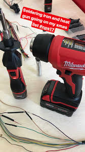 new milwaukee tools. a battery operated soldering iron without hot exhaust is an excellent new take on traditional tool. milwaukee tools