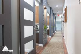 glass door for office. Stacked Slate And Sliding Glass Doors. Dental Office Design By Arminco Inc. Door For