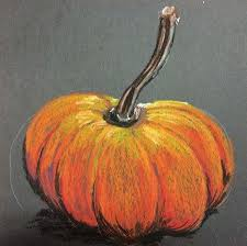 pumpkin drawing with shading. art ed central loves this value study, tints and shades, pumpkin in oil pastels drawing with shading
