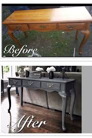 sofa table ideas. Before \u0026 After Old Run Down Sofa Table Refinished In A Mod Grey. Changes The Ideas H
