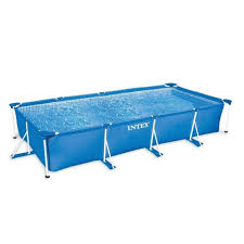 Intex Rectangular Metal Frame Pool No Pump 177 14 x 86 58 x 33