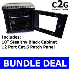 Slimline Wall Cabinet 10 Soho 6u Black Wall Cabinet Cat6 Patch Panel Network Data