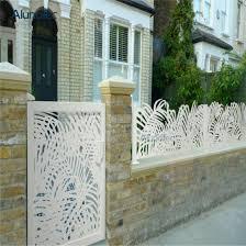 laser cut metal aluminum garden fence