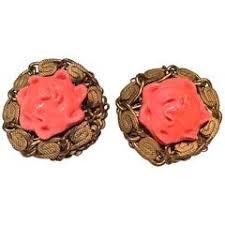 vine miriam haskell earrings 1950 s