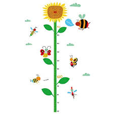 Kindergarten Height Chart Winhappyhome Sunflower Childrens Height Growth Measurement