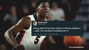 Could anthony edwards' next game be played in a warriors uniform? Nba Draft News Controversial Anthony Edwards Quote Draws Reactions