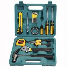 15 pcs mixed tool set box hand tool kit for home repair diy toolbox case set intl philippines