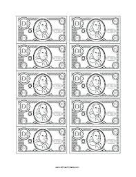 Play Money Coloring Pages Free Printable Money Play Money Coloring