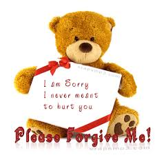 i am sorry i never meant to hurt you please forgive me teddy bear glitter