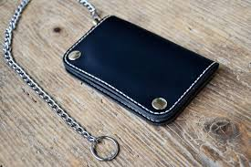 biker wallet leather wallet mens wallet chain wallet long wallet trucker wallet small size hand stitched by hand wallets i