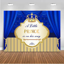 <b>Neoback</b> Prince Royal Boy <b>Baby Shower Background</b> For Party ...