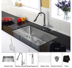 kraus khu100 30. Kraus KHU100-30-KPF1650-KSD30CH 30 Inch Undermount Single Bowl Stainless Steel Kitchen Sink With Chrome Faucet And Soap Dispenser | ExpressDecor.com Khu100 U