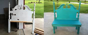 Headboard Bench Plans Headboard Junk Obsessed Repurpose An Old Into A Bench Idolza