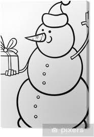 Canvas Kerst Sneeuwpop Kleurplaat Pixers We Leven Om Te Veranderen