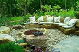 Stone Seating | 10 Captivating Rock Garden Ideas