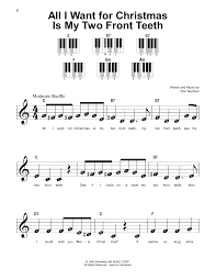 all i want for christmas is my two front teeth sheet music sheet music digital files to print licensed super easy piano
