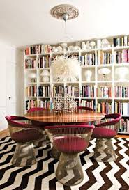 platner furniture. The Magenta Platner Chairs, Chevron Rug, Lighting, Book Cases. Love It All. (via Interior Decline) Furniture S