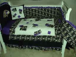 custom made baby crib nursery bedding set m w baltimore ravens nfl fabric