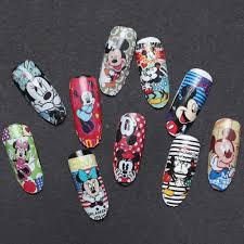 Aliexpress.com : Buy 1 Sheet Art Nail Sticker Mickey Mouse Nail ...