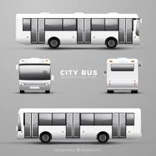 異なる視点のバスセット ベクター画像 無料ダウンロード