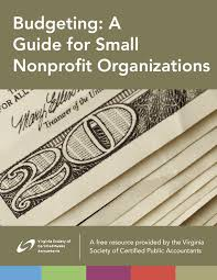 Budgeting A Guide For Small Nonprofit Organizations Issuelab