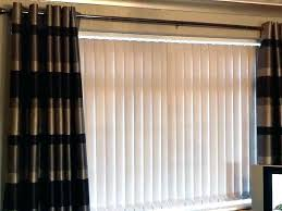 sliding door curtains over blinds curtains over vertical blinds sliding glass doors lovely hanging curtains over