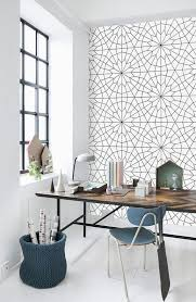 office wallpaper designs. geometric flower pattern self adhesive vinyl wallpaper z011 on etsy 3400 office designs e