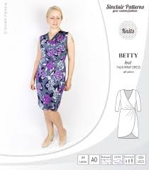 Wrap Dress Sewing Pattern Interesting Betty Faux Wrap Knit Dress PDF Sinclair Patterns