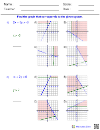 8 solve and graph the inequalities worksheet answers math aids systems of inequalities multiple choice problems