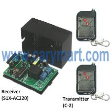 """220 v relay output wireless receiver transmitter of remote here is the circuit diagram of the receiver you can connect one lamp to the """"n l"""" output terminal of the receiver then supply power to receiver by"""