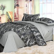 4pcs 100% Cotton Cool Unique camouflage duvet cover Popular ...
