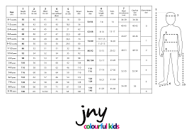 Baby Chest Size Chart Uk Size Guide