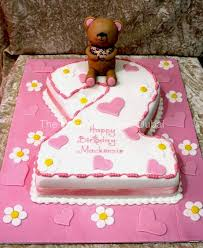 2nd Birthday Cake With Teddy Bear