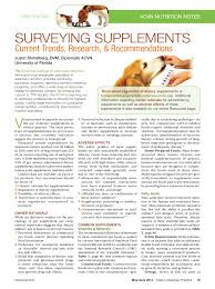 pdf surveying supplements cur trends research and remendations