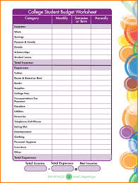 how to budget as a college student 28 images of student budget template printable linkcabin com