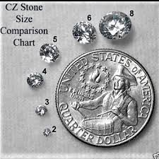 Cubic Zirconia Size Chart Cubic Zirconia Cz Natural