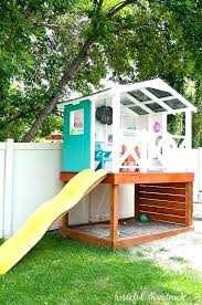 free diy playhouse backyard playground plans how to build a castle diy outdoor playhouse plans
