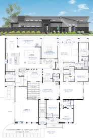 Contemporary Courtyard House Plan 61custom Modern House Plans