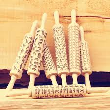 Patterned Rolling Pin Gorgeous Newest Wooden Rolling Pin For Mastic Embossing With Pattern Fondant