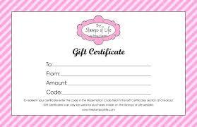 Create Gift Certificate Template A Card