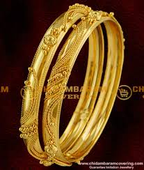 Latest South Indian Bangles Design Bng019 2 8 Size Gold Bangle Type Design South Indian