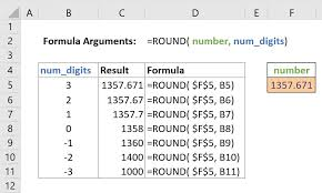 Excel Round Formulas How To Round A Number To Nearest 1000 Excel Gorilla