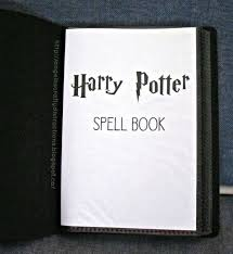 harry potter loving friend for her birthday in five months inside we have a le page and the spells are laid out alphabetically