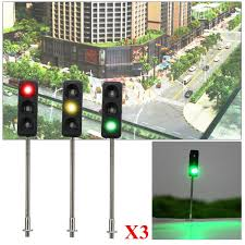 Ho Scale Traffic Light Controller 3x 50mm Ho Oo Model 3 Light Traffic Lights Signal Architecture Street Train